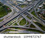 top view of highway road... | Shutterstock . vector #1099872767