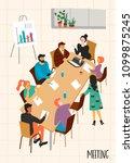 business meeting. vectpr... | Shutterstock .eps vector #1099875245