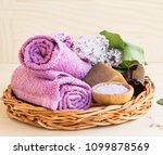 organic skincare and spa... | Shutterstock . vector #1099878569