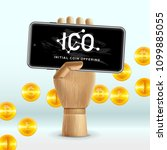 ico initial coin offering... | Shutterstock .eps vector #1099885055