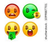 bitcoin emoji  crypto currency... | Shutterstock .eps vector #1099887701