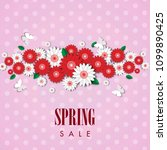 spring sale background with... | Shutterstock .eps vector #1099890425