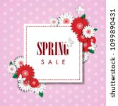 spring sale background with... | Shutterstock .eps vector #1099890431
