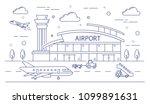 airport line building... | Shutterstock .eps vector #1099891631