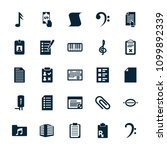 note icon. collection of 25... | Shutterstock .eps vector #1099892339