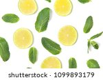 ripe lime slices and mint... | Shutterstock . vector #1099893179