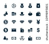rich icon. collection of 25... | Shutterstock .eps vector #1099895801