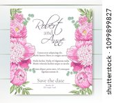 vector delicate invitation with ... | Shutterstock .eps vector #1099899827