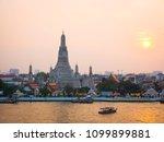 temple of dawn  wat arun ... | Shutterstock . vector #1099899881