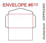 envelope  6 1 2 die cut... | Shutterstock .eps vector #1099902404