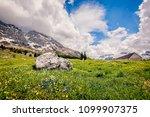 mountain range landscape.... | Shutterstock . vector #1099907375