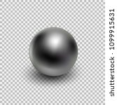 chrome metal ball realistic... | Shutterstock .eps vector #1099915631