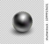 chrome metal ball realistic...   Shutterstock .eps vector #1099915631