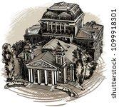 landmarks of sofia   national...   Shutterstock .eps vector #1099918301
