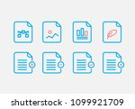 file type icon set. simple set... | Shutterstock .eps vector #1099921709