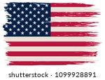 american flag.grunge usa flag... | Shutterstock .eps vector #1099928891