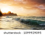 beautiful tropical pacific... | Shutterstock . vector #1099929095