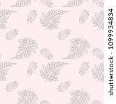 vector fern pattern. seamless... | Shutterstock .eps vector #1099934834