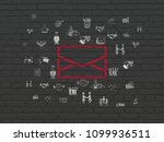 finance concept  painted red... | Shutterstock . vector #1099936511