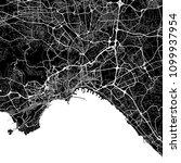 area map of naples  italy. dark ... | Shutterstock .eps vector #1099937954