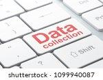 data concept  computer keyboard ... | Shutterstock . vector #1099940087