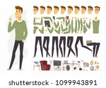 cute man   vector cartoon... | Shutterstock .eps vector #1099943891