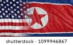 north korea and us of america...   Shutterstock . vector #1099946867