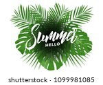 summer. modern design layout... | Shutterstock .eps vector #1099981085