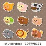 animal stickers | Shutterstock .eps vector #109998131