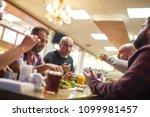 group of muslim people in... | Shutterstock . vector #1099981457