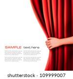 background with red velvet... | Shutterstock .eps vector #109999007