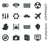 black vector icon set no laptop ... | Shutterstock .eps vector #1099993637
