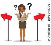 young black african american... | Shutterstock .eps vector #1099995701