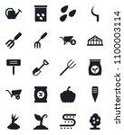 set of vector isolated black... | Shutterstock .eps vector #1100003114