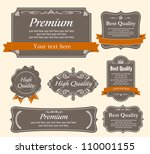 high quality   premium labels... | Shutterstock .eps vector #110001155