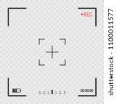 camera frame viewfinder screen. ... | Shutterstock .eps vector #1100011577