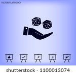 cubes for the game vector icon. | Shutterstock .eps vector #1100013074