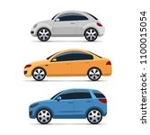 car side view vector set....   Shutterstock .eps vector #1100015054