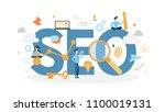seo concept illustration. idea...   Shutterstock .eps vector #1100019131