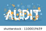 audit concept illustration.... | Shutterstock .eps vector #1100019659