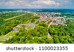 aerial view of fontainebleau... | Shutterstock . vector #1100023355