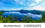 panoramic view of a lake... | Shutterstock . vector #1100026091