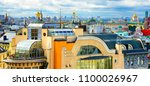 panoramic view of moscow from... | Shutterstock . vector #1100026967