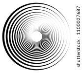 spiral element. abstract swirl  ... | Shutterstock .eps vector #1100027687
