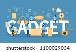 gadget concept illustration.... | Shutterstock .eps vector #1100029034