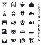 set of vector isolated black... | Shutterstock .eps vector #1100036444