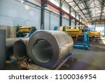 industrial manufactory workshop ... | Shutterstock . vector #1100036954