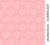 seamless pattern  flower art ... | Shutterstock . vector #1100041607