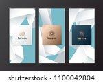 vector set packaging templates... | Shutterstock .eps vector #1100042804