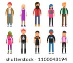 funky young people. hipsters... | Shutterstock .eps vector #1100043194